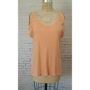 RUBBISH Woman's Peach Cold Shoulder Top Blouse Shi